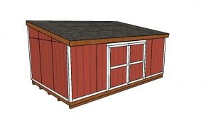 12×20 Lean to Shed Plans