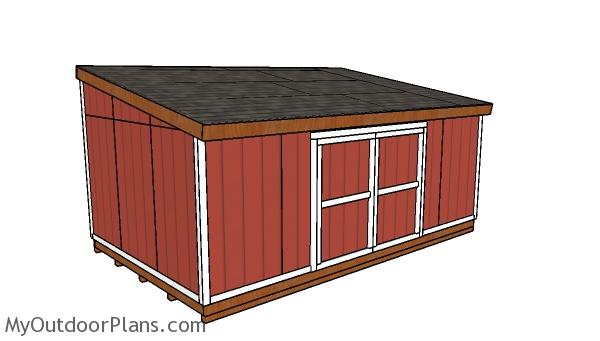 12x20 Lean to Shed Plans