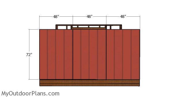 Back wall panels