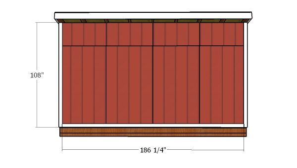 Back wall trims