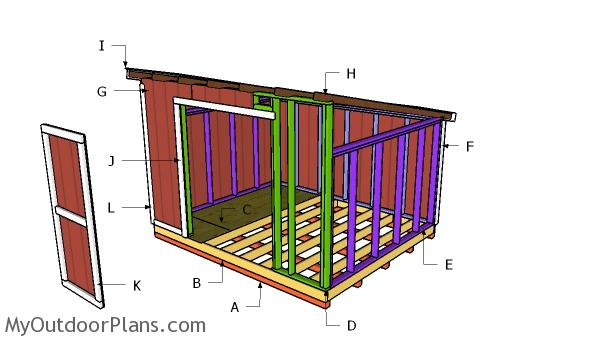 10x12 Lean to Shed Roof Plans