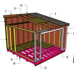 12×14 Lean to Shed Roof Plans