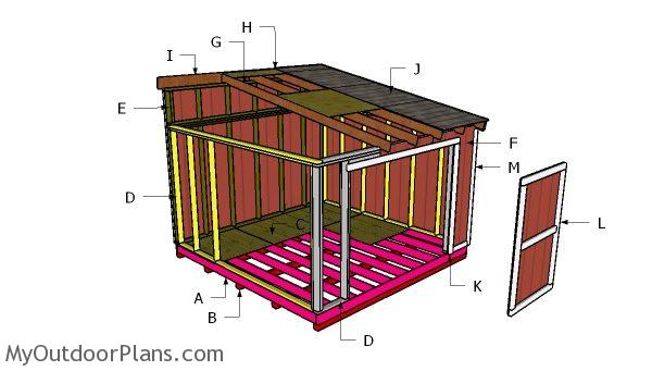 Building a 12x12 lean to shed