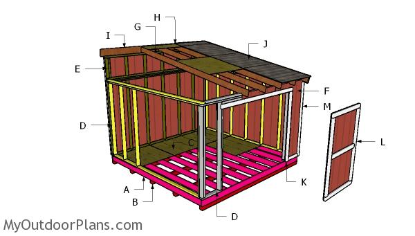 10x16 Lean to Shed Roof Plans