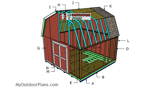 Building-a-16x16-gambrel-shed