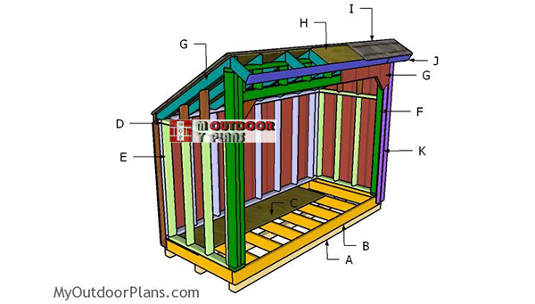 Building-a-4x10-firewood-shed