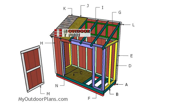 Building-a-4x10-shed-lean-to