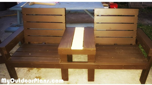 DIY Wood Large Double Chair Bench