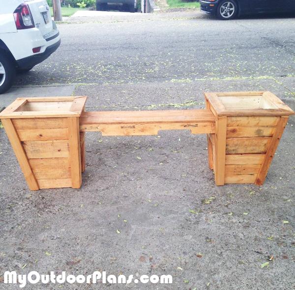 DIY 2 Planter Seat