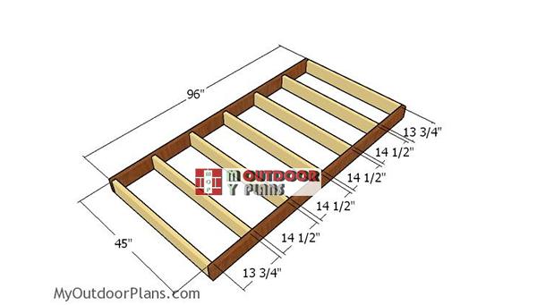 Building-the-floor-frame---4x8