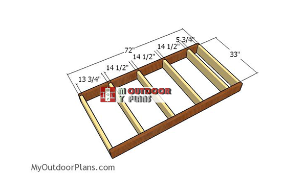 Building-the-floor-frame-small-shed