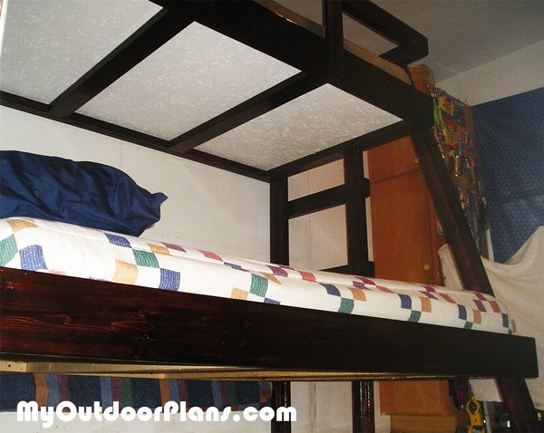 DIY Twin Over Double Bunk Bed | MyOutdoorPlans | Free Woodworking ...