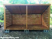 DIY 3 Cord Wood Shed