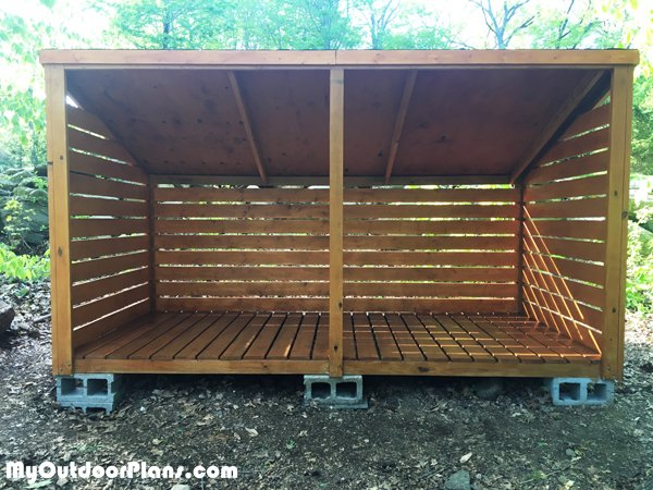 DIY 3 Cord Wood Shed