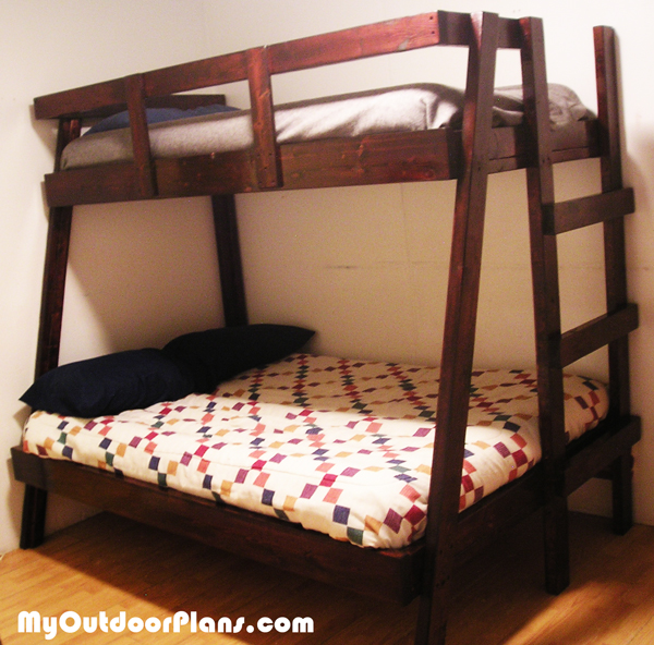 DIY Twin Over Double Bunk Bed