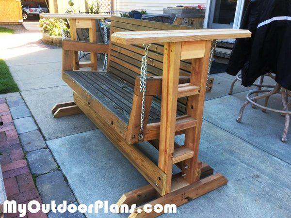 Diy Glider Swing Stand Myoutdoorplans Free Woodworking