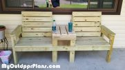 DIY Large Double Chair Bench