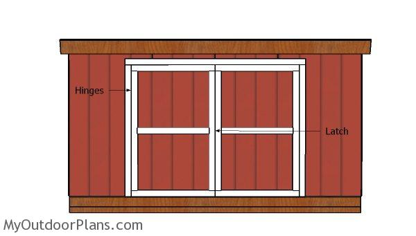 Fitting the double doors