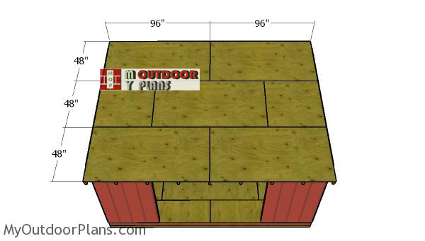 Fitting-the-roof-sheets---shed
