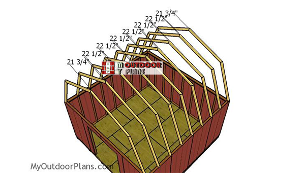 Fitting-the-trusses---16x16-barn-shed