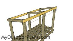 Front and back roof beams