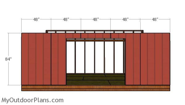 Front wall panels