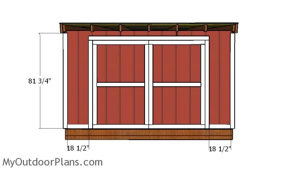 12×12 Lean to Shed Doors Plans