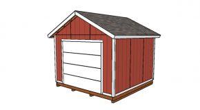 12×12 Shed with Garage Door Plans