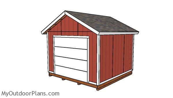 12x12 shed with garage door plans myoutdoorplans free for Playhouse with garage plans