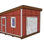 14×14 Lean to Shed Plans