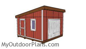14x14 Lean to shed Plans