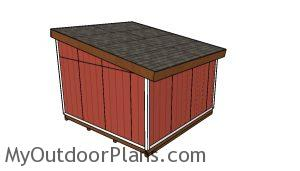 14x14 Lean to shed Plans - Back view