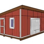 14×20 Lean to Shed Plans