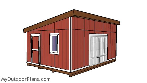14x20 Lean to Shed Plans