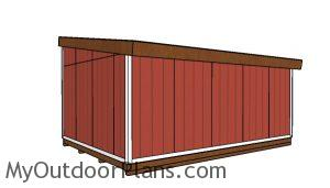 14x20 Lean to shed Plans - back view