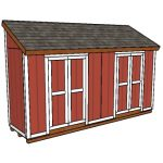 4×16 Lean to Shed Plans