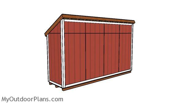 4x16 shed plans - back view