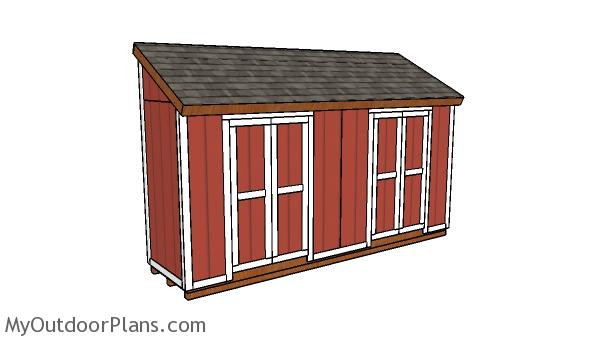 4x16 Lean to Shed Plans
