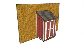 4×6 Lean to Shed Plans