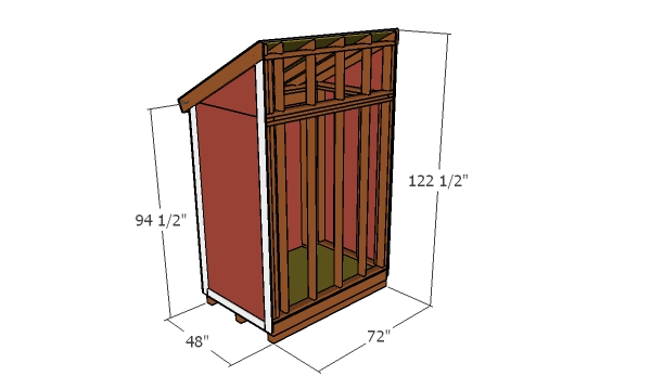 4x6 Lean to Shed - overall dimensions