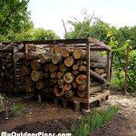 DIY Log Shed