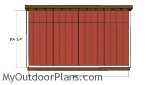 6x16 Shed Back Wall Trims
