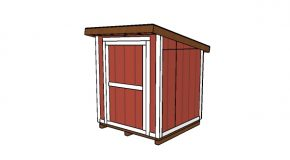 6×6 Lean to Shed Plans