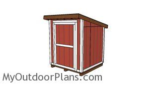 6x6 Lean to Shed Plans