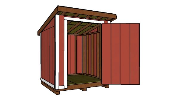 6x6 Lean to Shed Plans Free