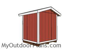 6x6 Shed Plans - Back view