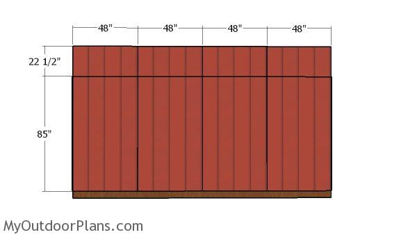 Back wall panels