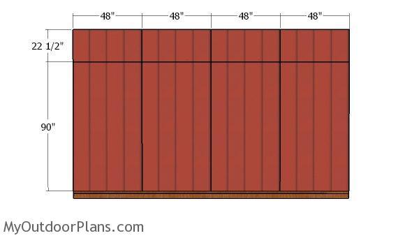 Baxk wall panels