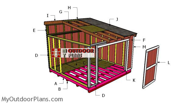 Building-a-12x12-shed-lean-to-roof