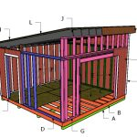 14×14 Lean to Shed Roof Plans